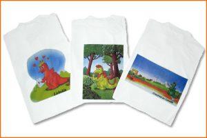 Grünfried und Liebalda - T-Shirt Liebalda, Friedebald und Grünfried
